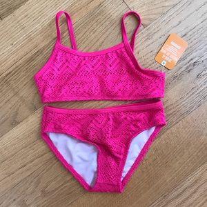 NWT Gymboree pink lace bikini